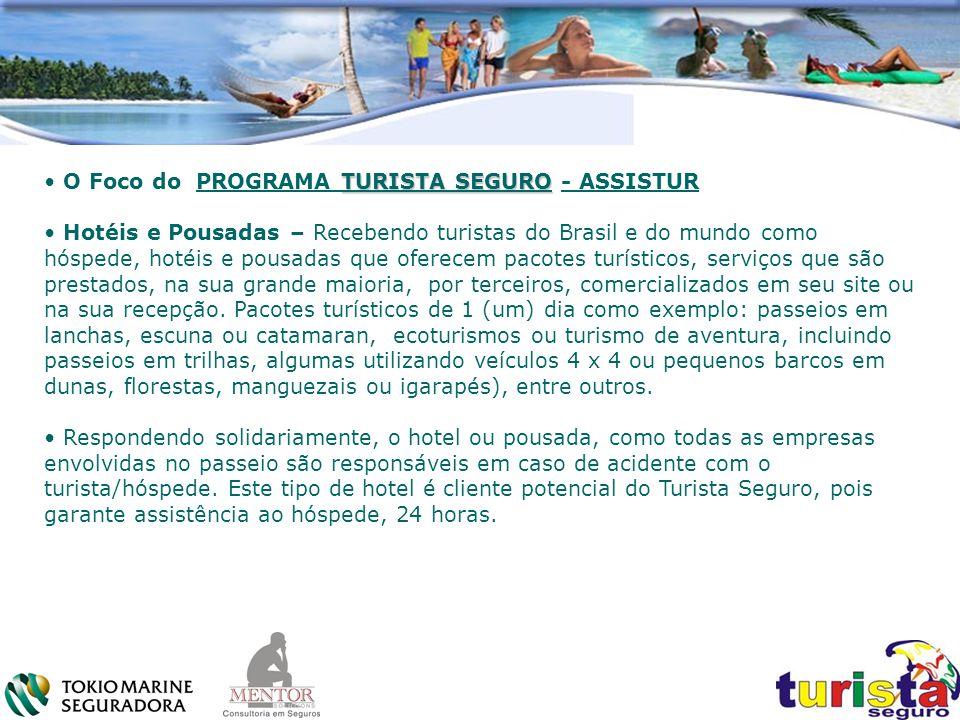 TURISTA SEGURO O Foco do PROGRAMA TURISTA SEGURO - ASSISTUR Hotéis e Pousadas – Recebendo turistas do Brasil e do mundo como hóspede, hotéis e pousada