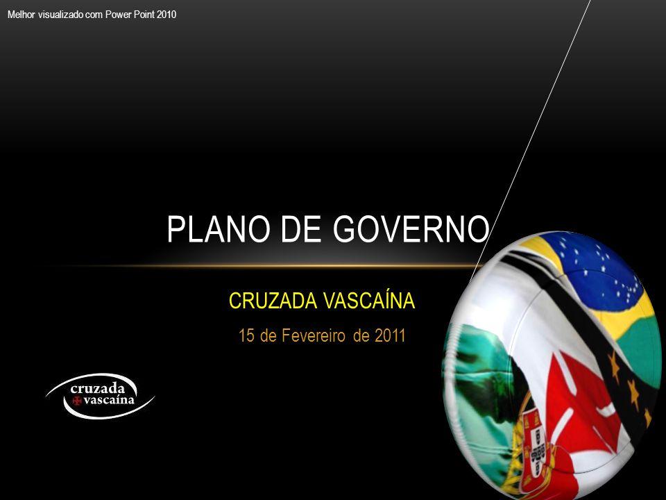 CRUZADA VASCAÍNA 15 de Fevereiro de 2011 PLANO DE GOVERNO Melhor visualizado com Power Point 2010