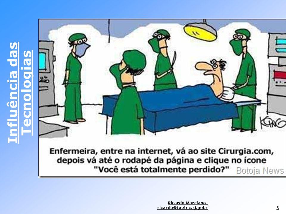 Influência das Tecnologias Ricardo Marciano- ricardo@faetec.rj.gobr9