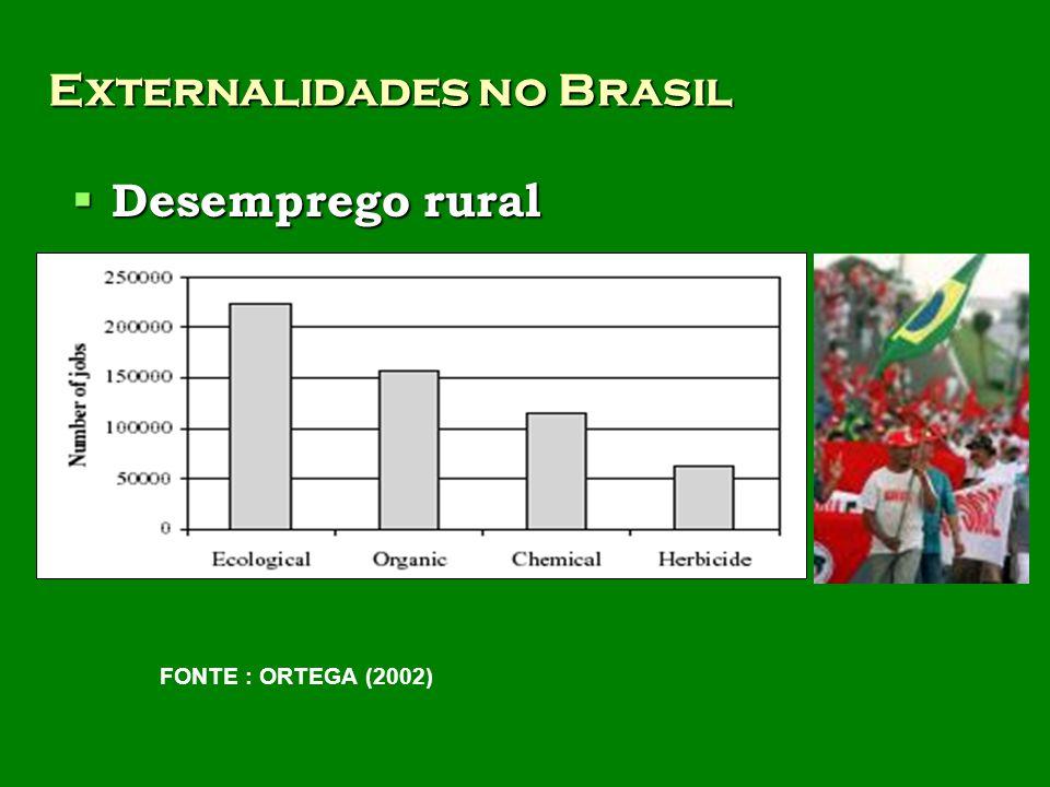 Externalidades no Brasil Desemprego rural Desemprego rural FONTE : ORTEGA (2002)