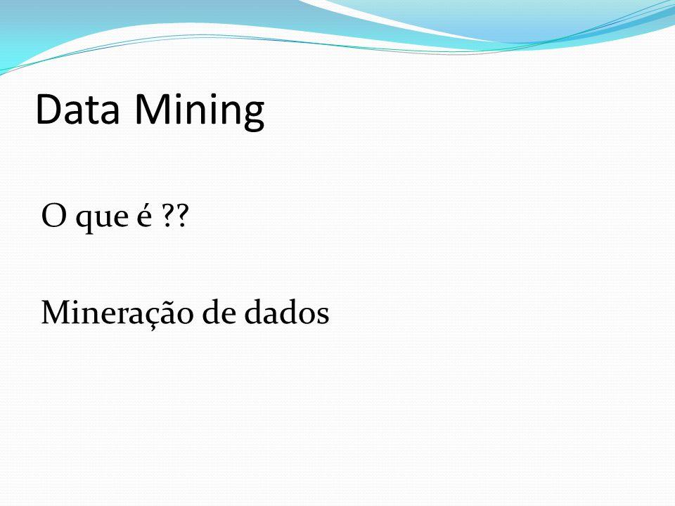 Data Mining O que é ?? Mineração de dados