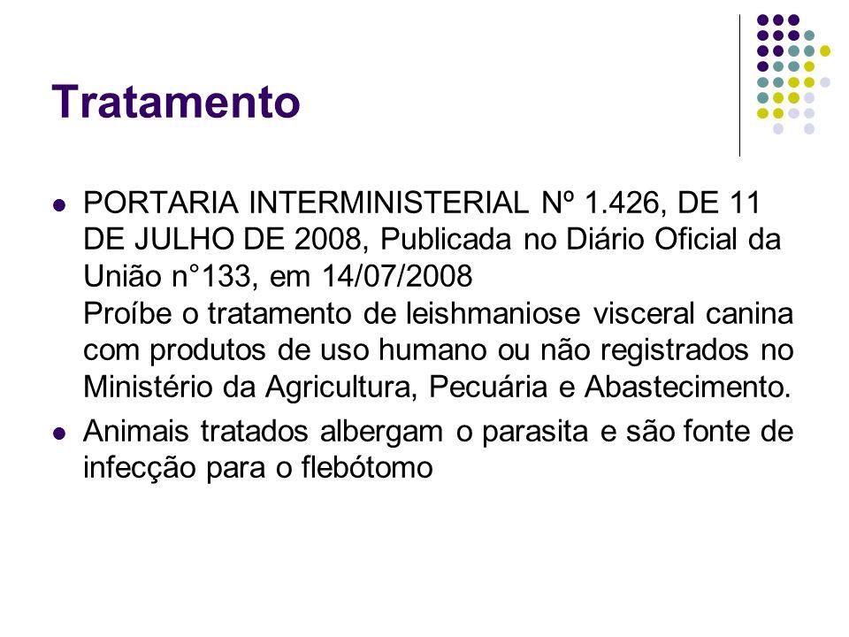 Tratamento PORTARIA INTERMINISTERIAL Nº 1.426, DE 11 DE JULHO DE 2008, Publicada no Diário Oficial da União n°133, em 14/07/2008 Proíbe o tratamento d