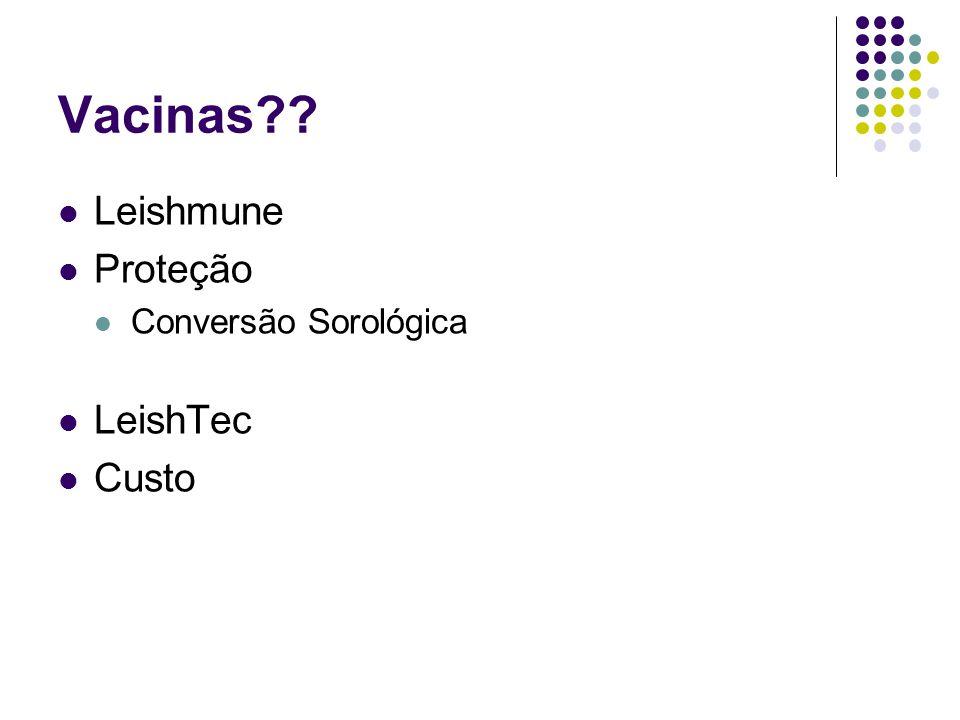 Vacinas?? Leishmune Proteção Conversão Sorológica LeishTec Custo