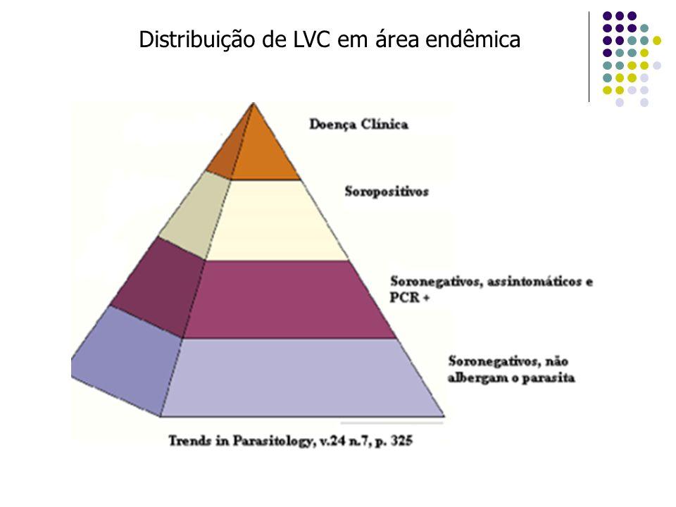 Distribuição de LVC em área endêmica