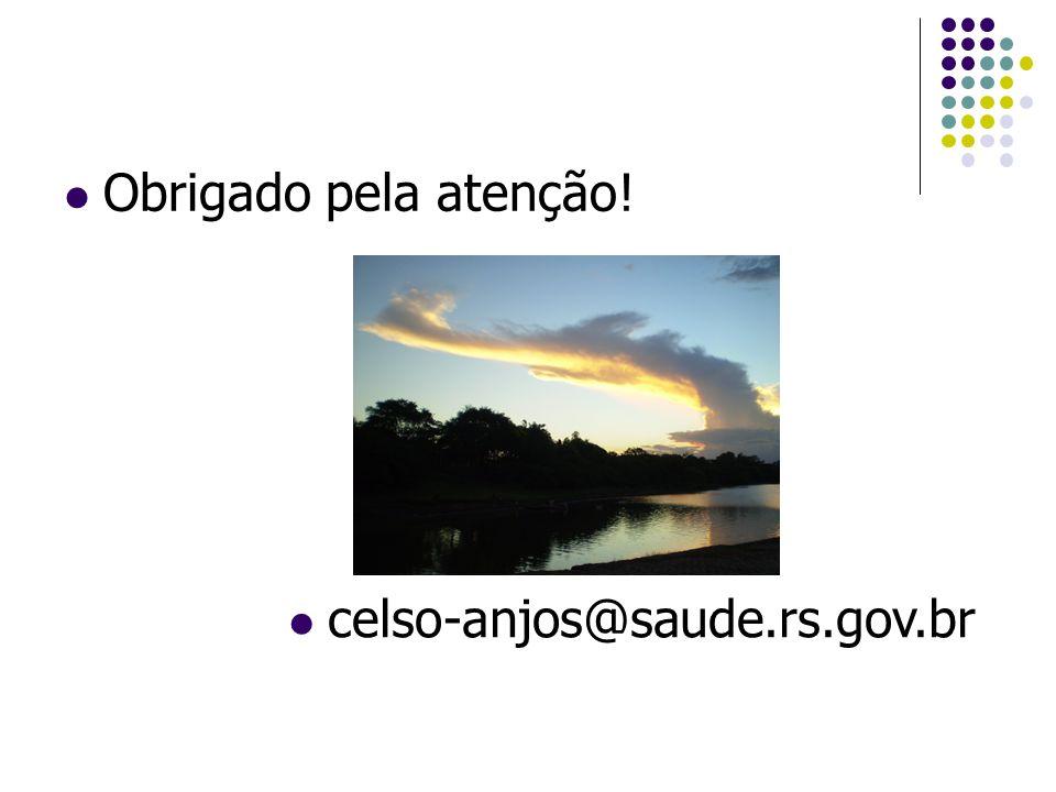 Obrigado pela atenção! celso-anjos@saude.rs.gov.br