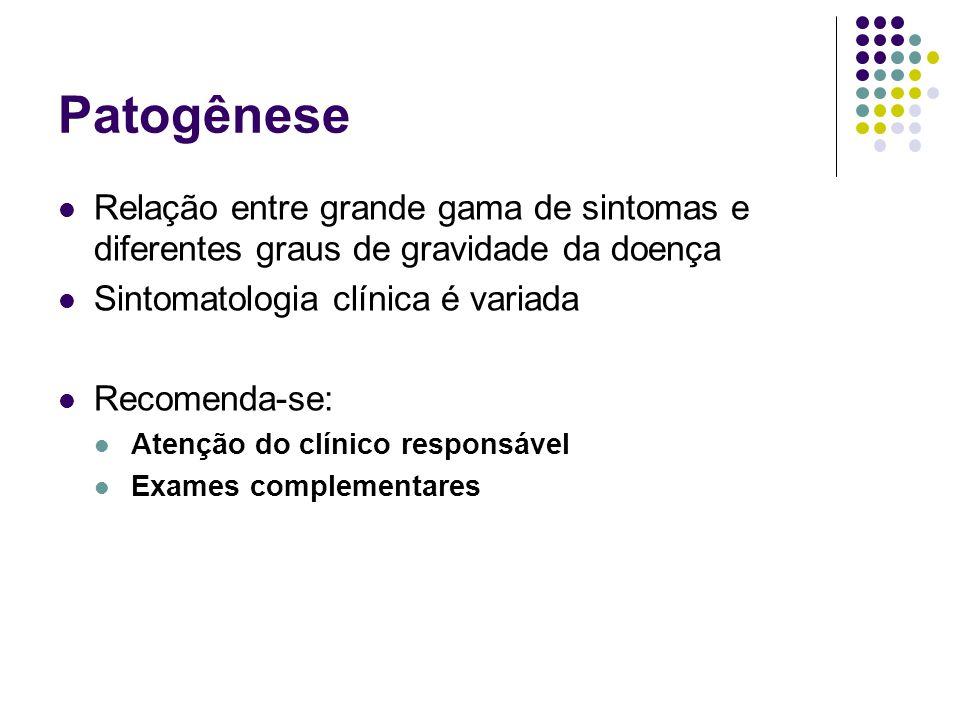 Classificação Assintomáticos: ausência de sinais ou sintomas
