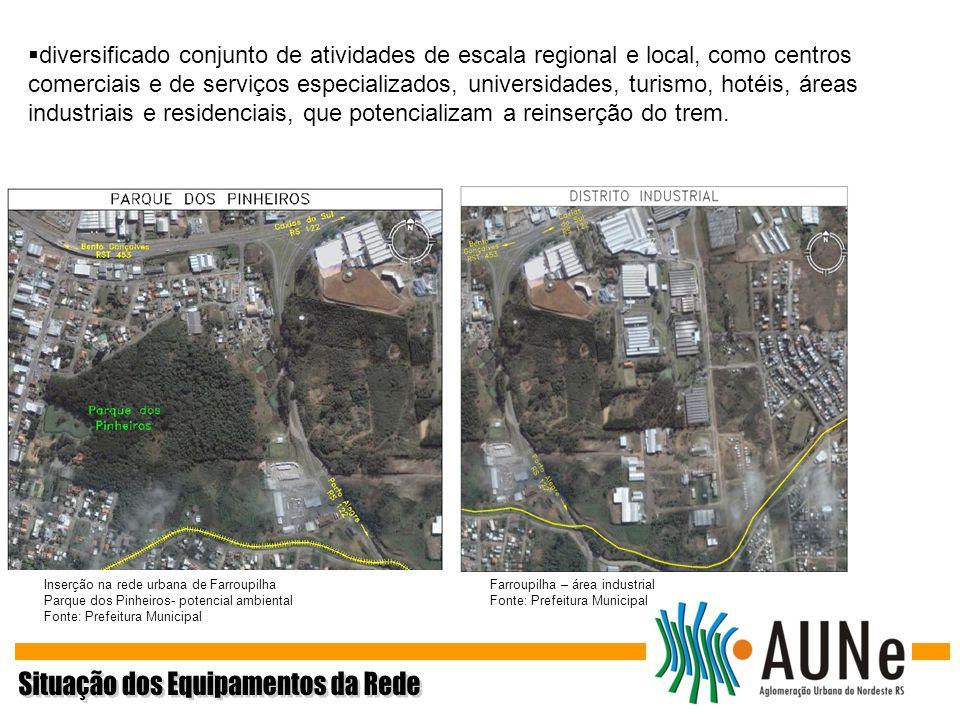 Inserção na rede urbana de Farroupilha Parque dos Pinheiros- potencial ambiental Fonte: Prefeitura Municipal Farroupilha – área industrial Fonte: Pref