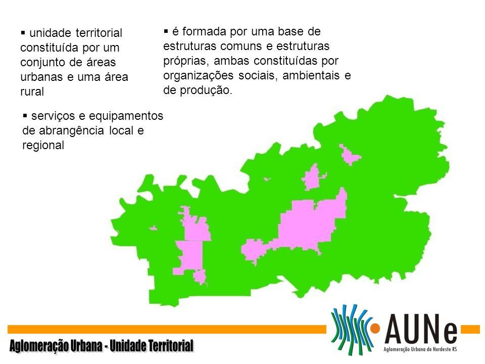 unidade territorial constituída por um conjunto de áreas urbanas e uma área rural serviços e equipamentos de abrangência local e regional é formada po