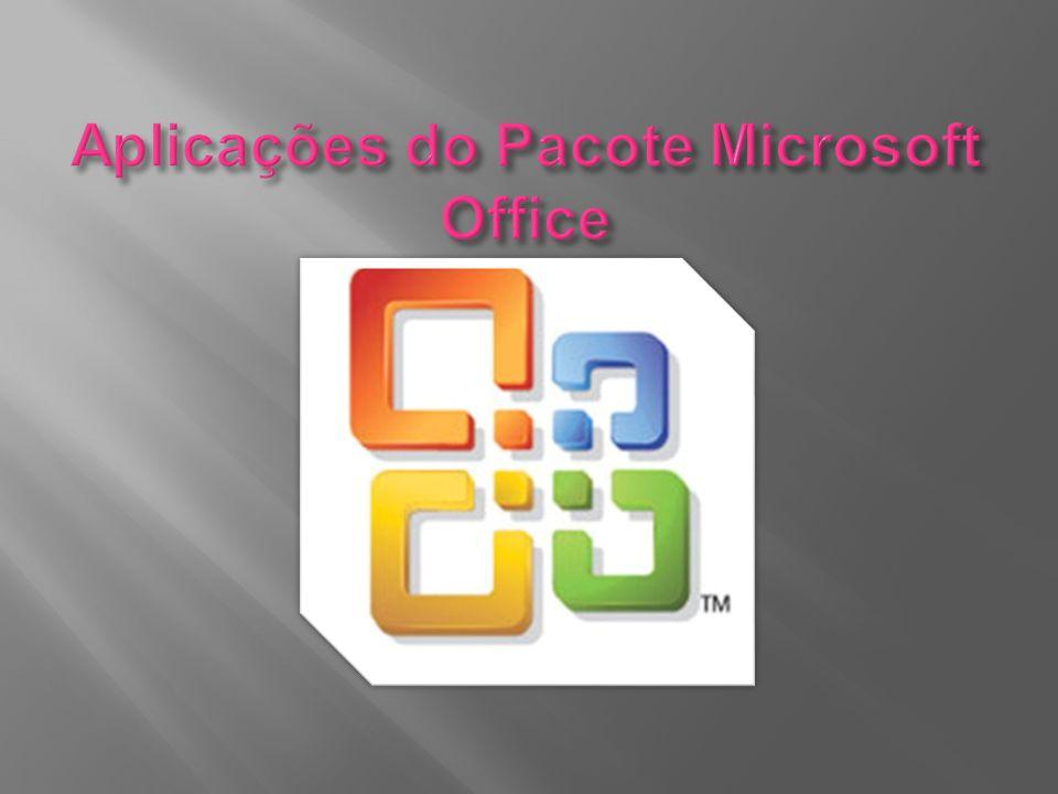 O Microsoft Office é uma suite de aplicativos para escritório que contém programas como processador de texto, palmilha de cálculo, banco de dados, apresentação gráfica e agenciador de tarefas, e-mails e contactos.