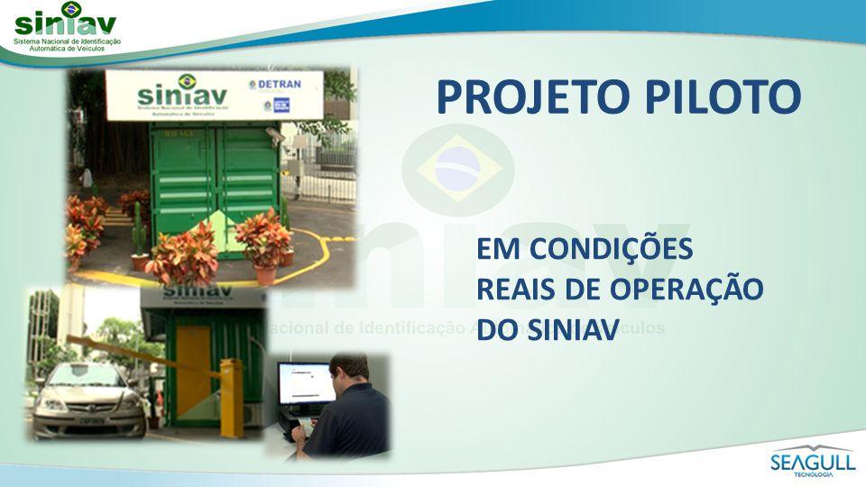 PROJETO PILOTO EM CONDIÇÕES REAIS DE OPERAÇÃO DO SINIAV