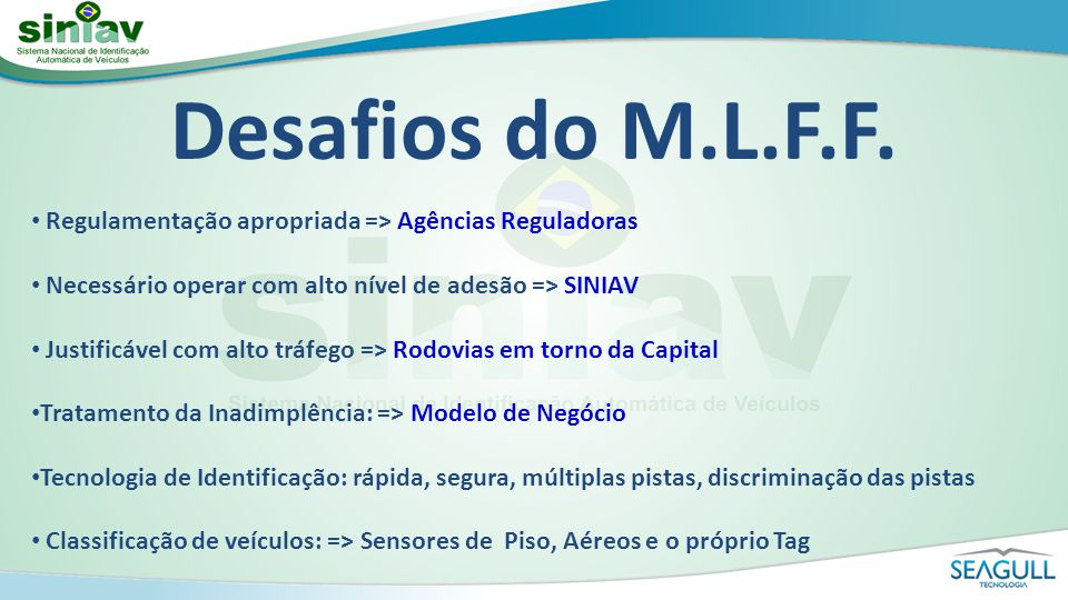 Desafios do M.L.F.F.