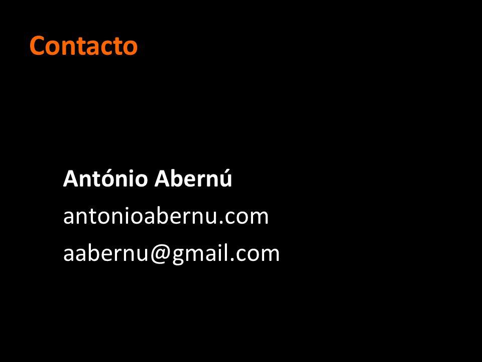 Contacto António Abernú antonioabernu.com aabernu@gmail.com