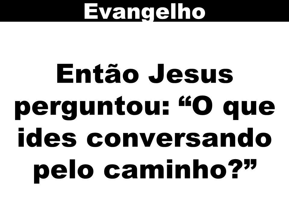 Então Jesus perguntou: O que ides conversando pelo caminho? Evangelho