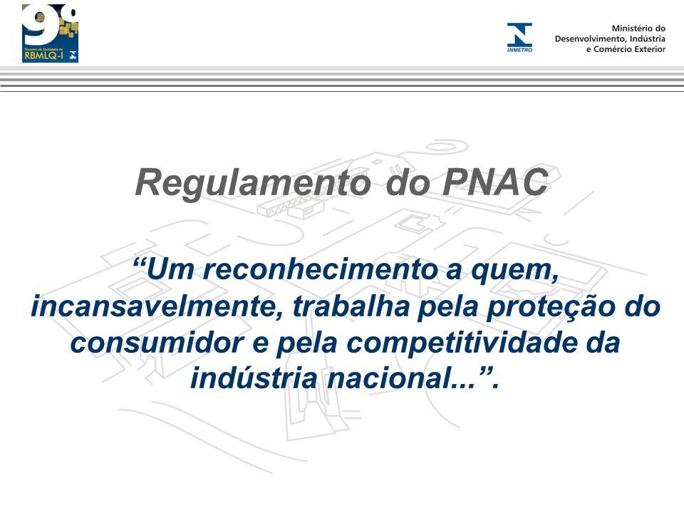 Regulamento do PNAC Um reconhecimento a quem, incansavelmente, trabalha pela proteção do consumidor e pela competitividade da indústria nacional....