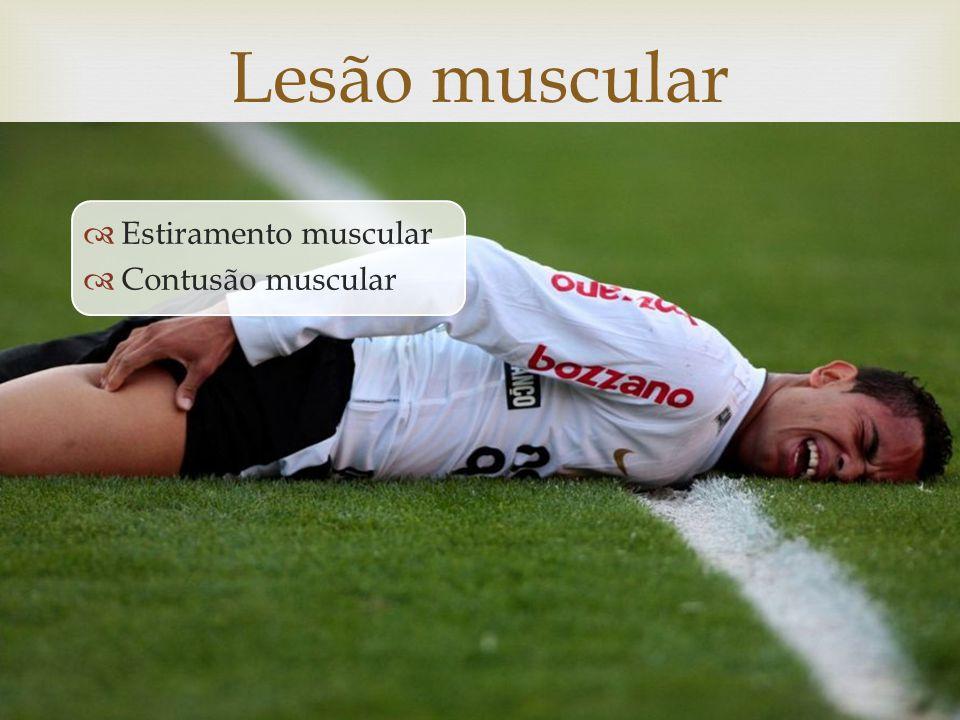 Estiramento muscular Contusão muscular Lesão muscular