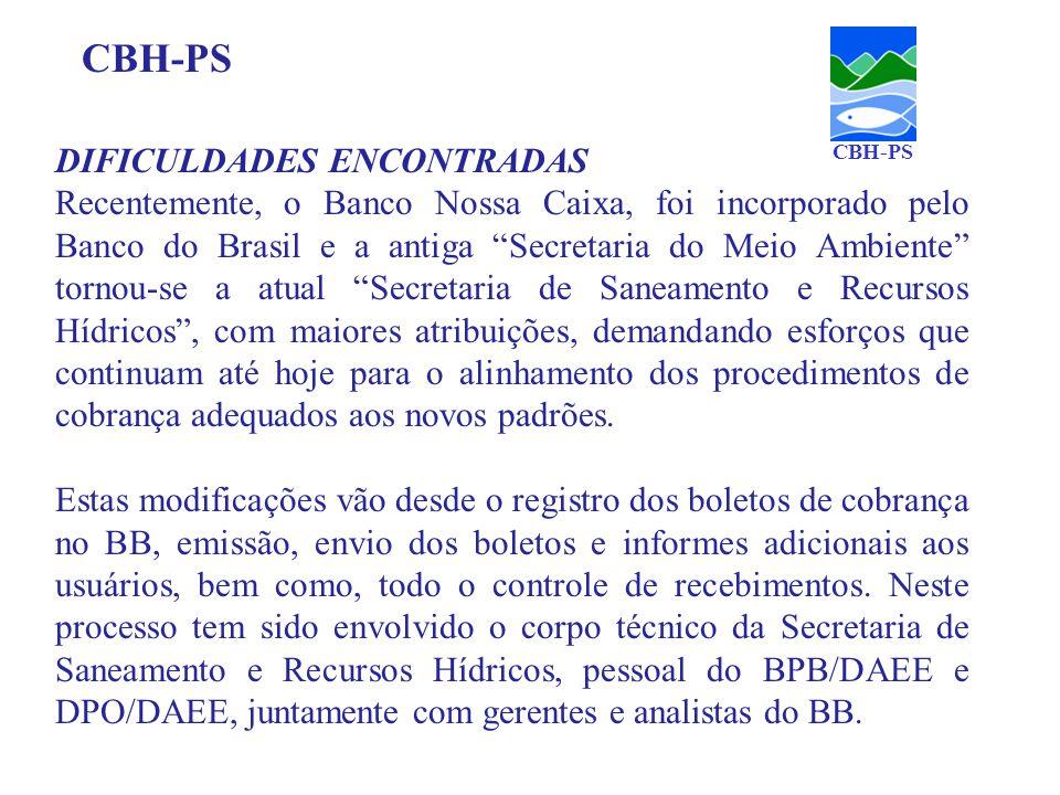 DIFICULDADES ENCONTRADAS Recentemente, o Banco Nossa Caixa, foi incorporado pelo Banco do Brasil e a antiga Secretaria do Meio Ambiente tornou-se a at