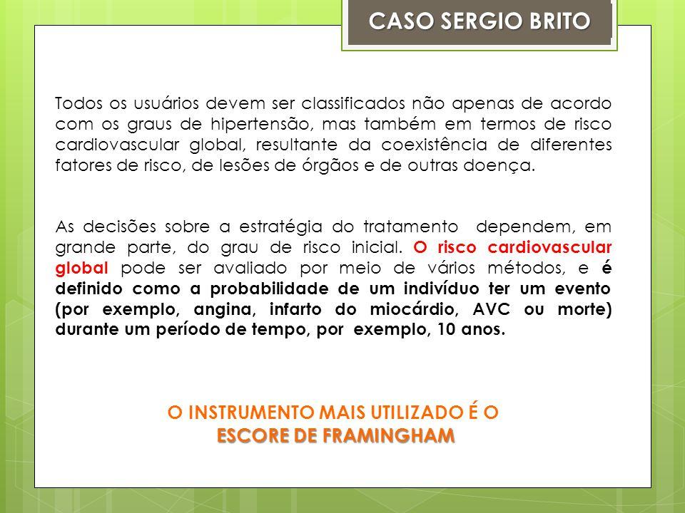 CALCULE O RISCO CARDIOVASCULAR DE SEU SERGIO.1.