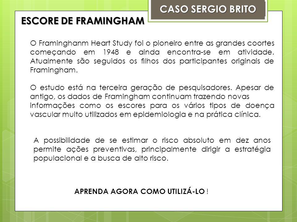 alto risco cardiovascular, risco intermediáriobaixo risco: Entre os fatores de risco, existem aqueles considerados como alto risco cardiovascular, risco intermediário ou baixo risco: FONTE : Brasil.