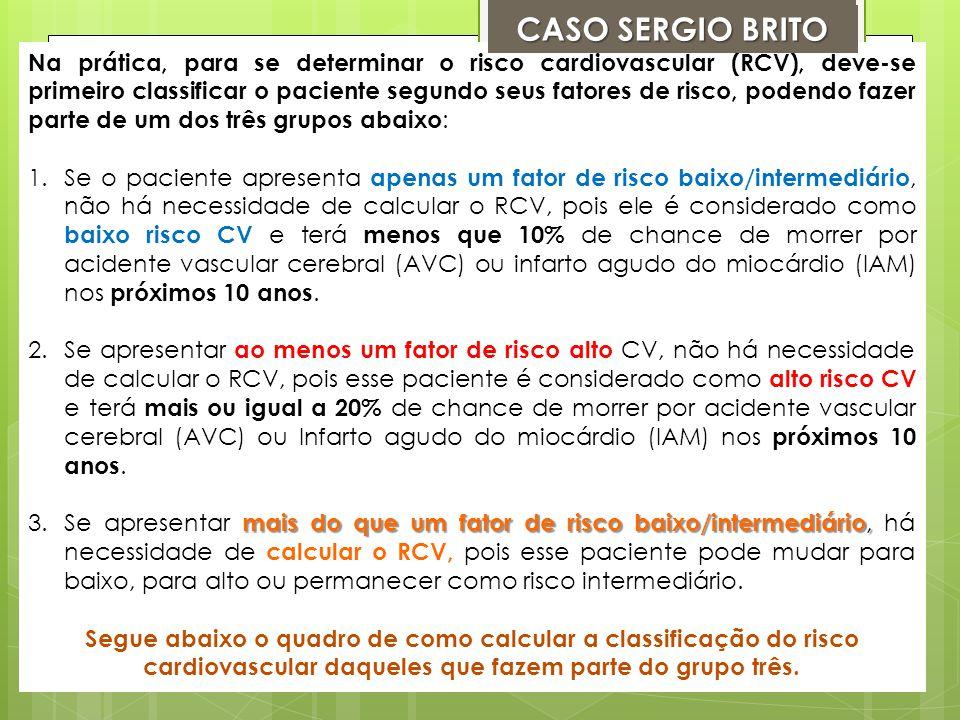 IDADE (35 Anos) = 0 HDL ( 49 mg/dl) = 0 LDL = (163 mg/dl) = 1 (NÃO TEM NO CASO / FAÇA O CALCULO .