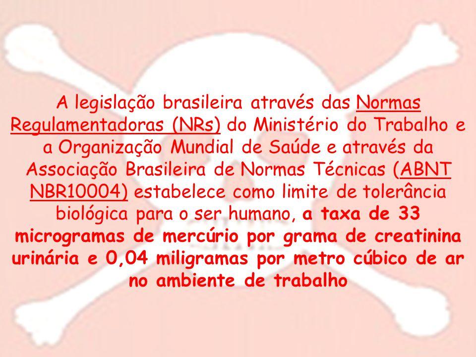 A legislação brasileira através das Normas Regulamentadoras (NRs) do Ministério do Trabalho e a Organização Mundial de Saúde e através da Associação B