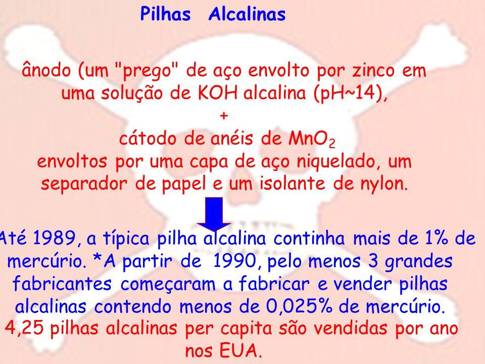 Pilhas Alcalinas ânodo (um