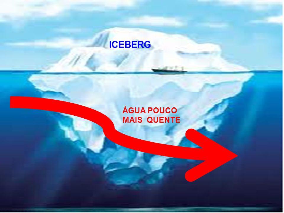 ÁGUA POUCO MAIS QUENTE ICEBERG