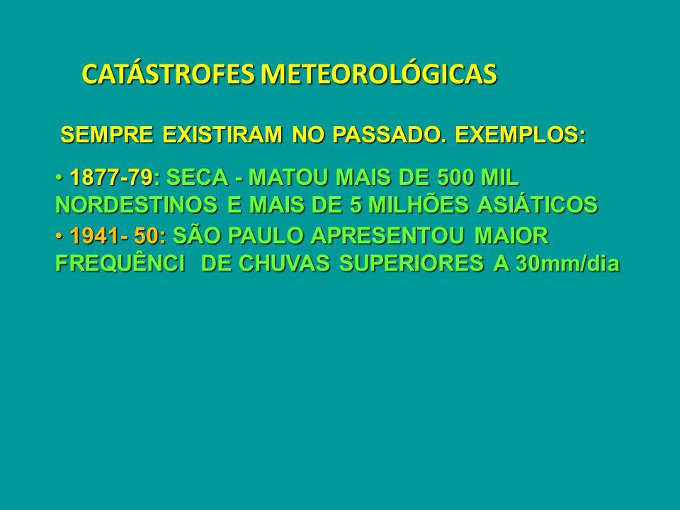 CATÁSTROFES METEOROLÓGICAS SEMPRE EXISTIRAM NO PASSADO.