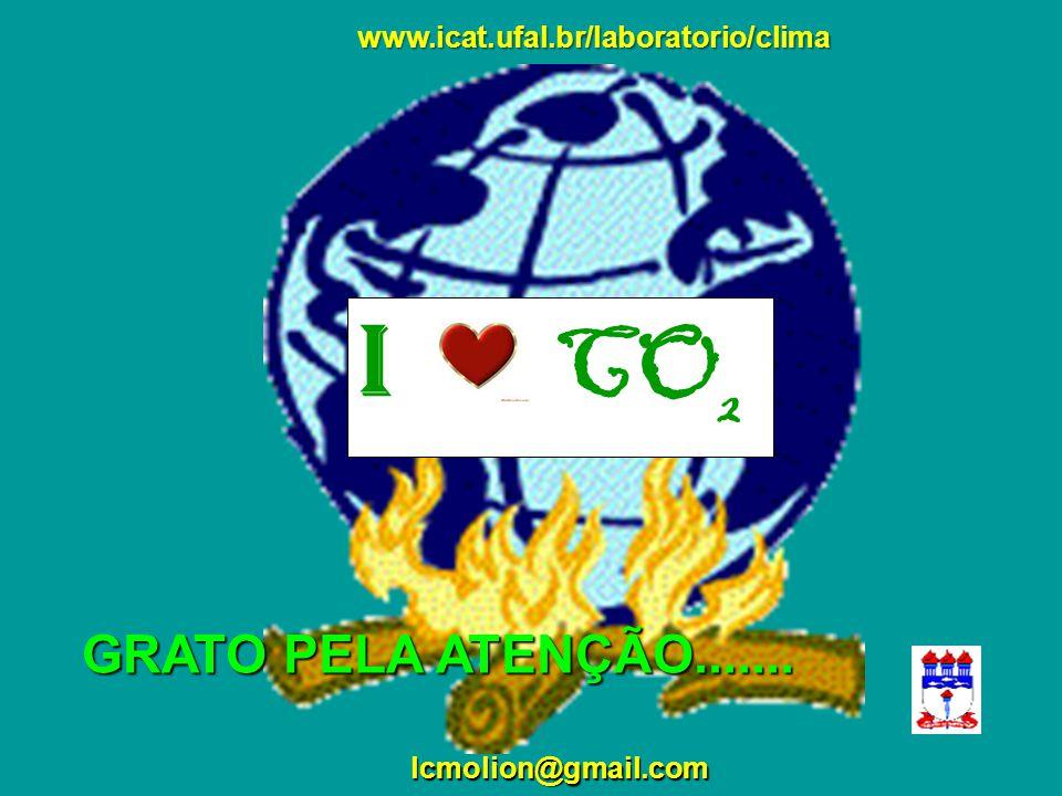 lcmolion@gmail.com GRATO PELA ATENÇÃO....... ? I CO 2 www.icat.ufal.br/laboratorio/clima