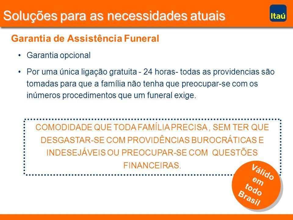 Garantia opcional Por uma única ligação gratuita - 24 horas- todas as providencias são tomadas para que a família não tenha que preocupar-se com os inúmeros procedimentos que um funeral exige.