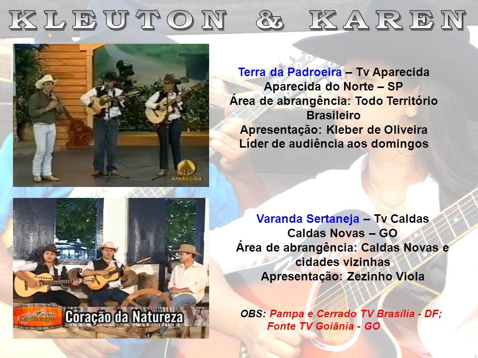 Terra da Padroeira – Tv Aparecida Aparecida do Norte – SP Área de abrangência: Todo Território Brasileiro Apresentação: Kleber de Oliveira Líder de au