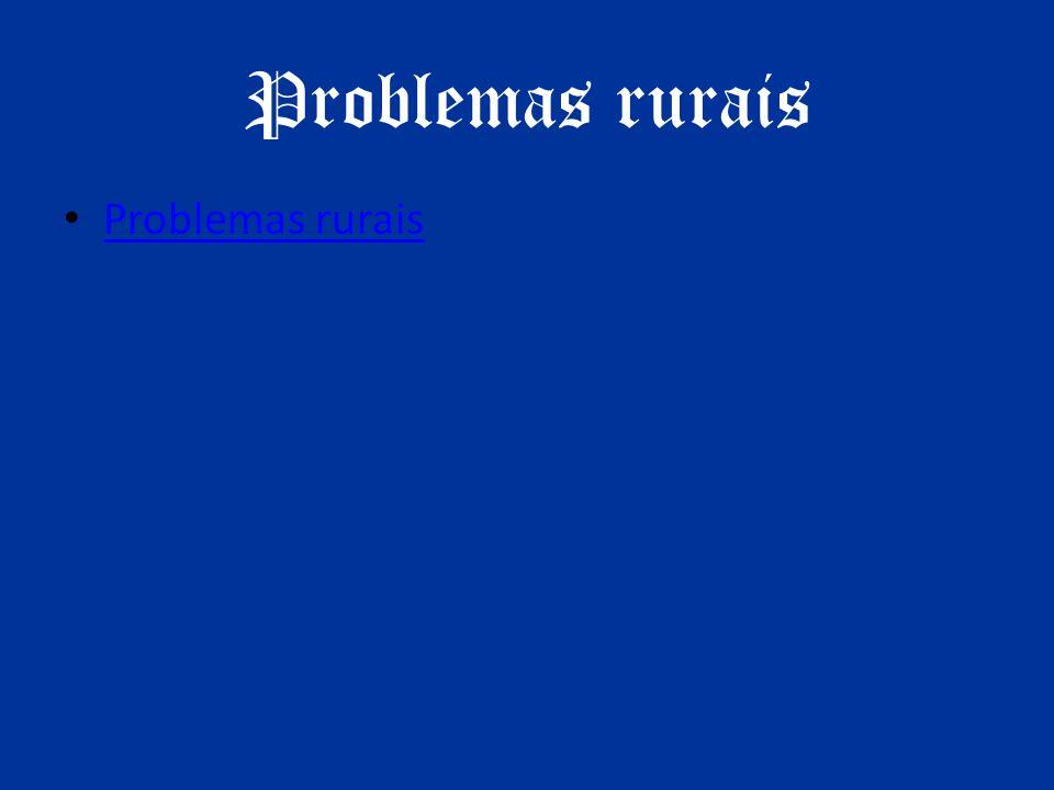 Problemas rurais