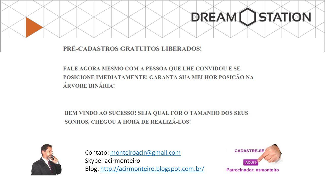 Contato: monteiroacir@gmail.commonteiroacir@gmail.com Skype: acirmonteiro Blog: http://acirmonteiro.blogspot.com.br/http://acirmonteiro.blogspot.com.br/