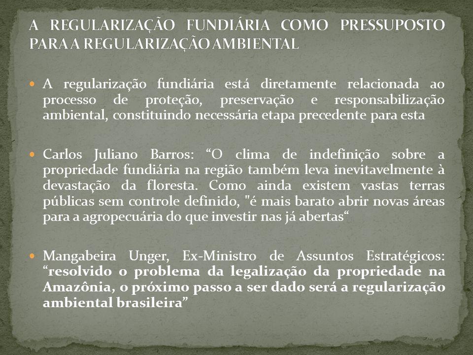 A regularização fundiária está diretamente relacionada ao processo de proteção, preservação e responsabilização ambiental, constituindo necessária eta