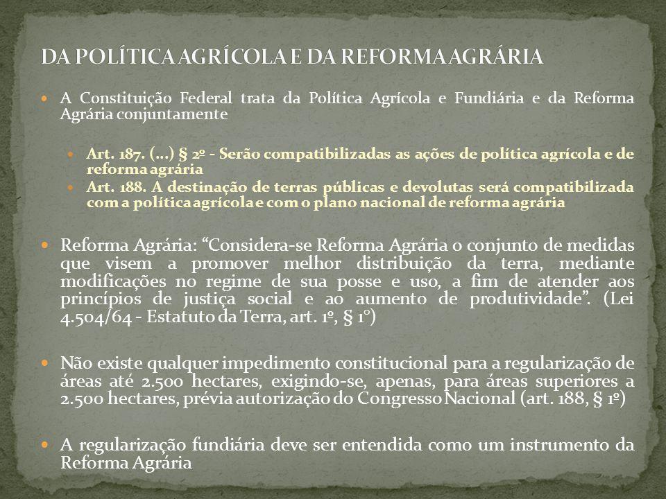 Sistema Nacional de Cadastro Rural (SNCR): Lei n.5.868/72.