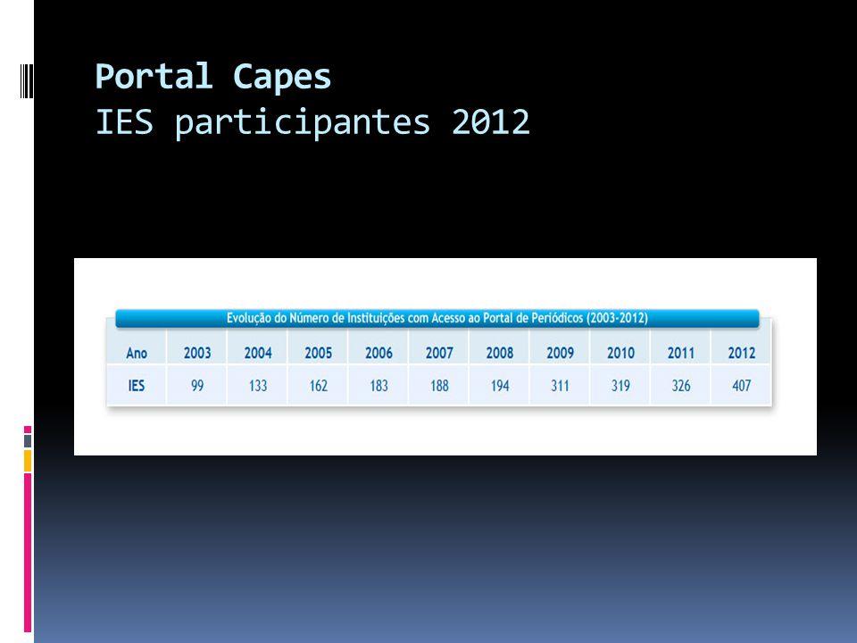 Portal Capes IES participantes 2012