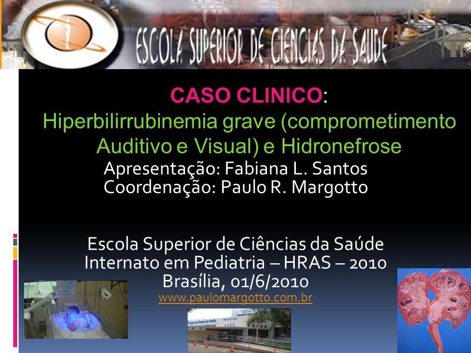 Apresentação: Fabiana L. Santos Coordenação: Paulo R. Margotto Escola Superior de Ciências da Saúde Internato em Pediatria – HRAS – 2010 Brasília, 01/