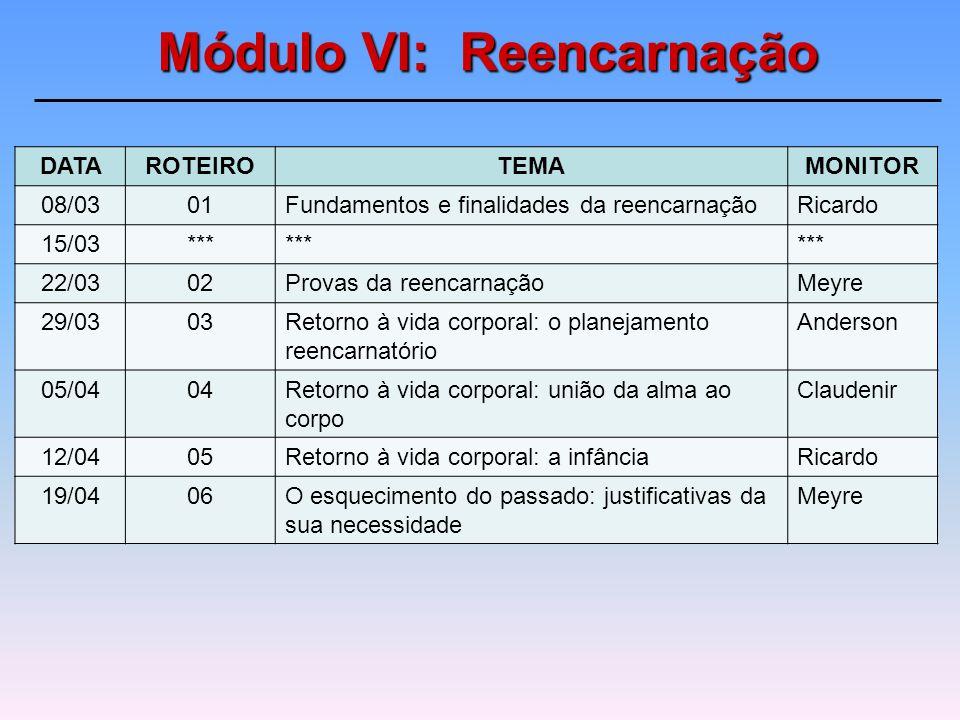 Federação Espírita Brasileira Estudo Sistematizado da Doutrina Espírita Programa Fundamental – Tomo I Reencarnação Possibilitar entendimento da reenca