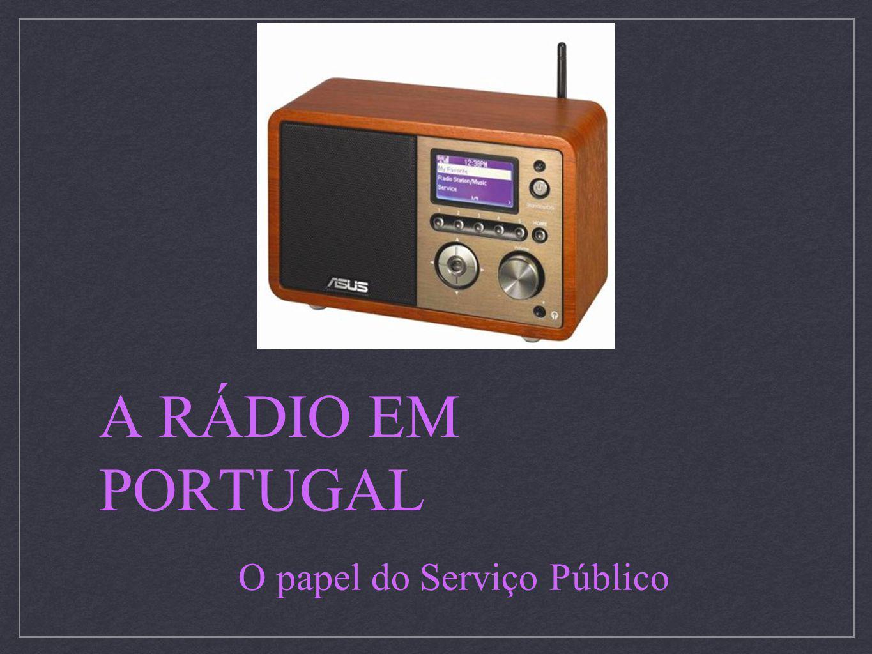 A RÁDIO EM PORTUGAL O papel do Serviço Público
