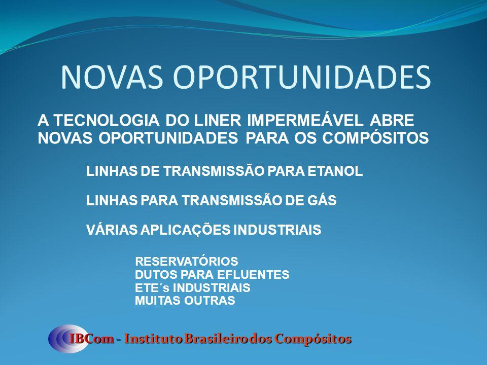 NOVAS OPORTUNIDADES IBCom - Instituto Brasileiro dos Compósitos A TECNOLOGIA DO LINER IMPERMEÁVEL ABRE NOVAS OPORTUNIDADES PARA OS COMPÓSITOS LINHAS D