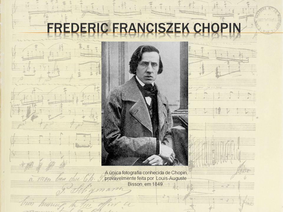 A única fotografia conhecida de Chopin, provavelmente feita por Louis-Auguste Bisson, em 1849.