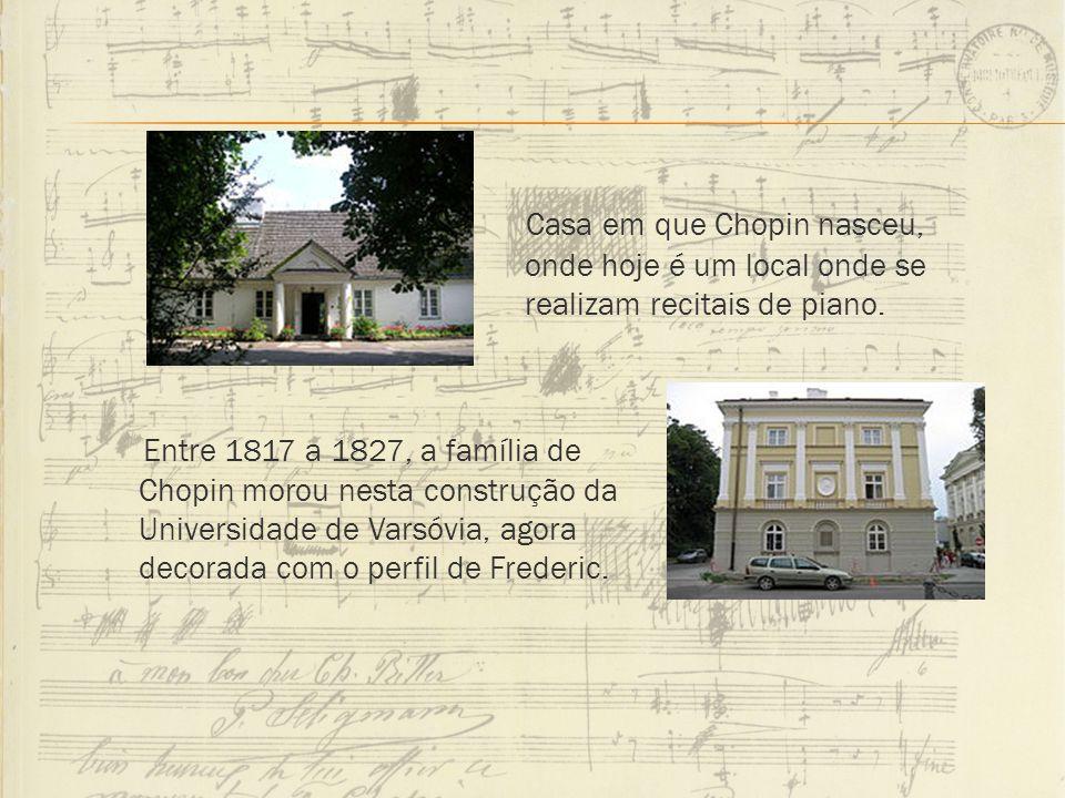 Casa em que Chopin nasceu, onde hoje é um local onde se realizam recitais de piano. Entre 1817 a 1827, a família de Chopin morou nesta construção da U