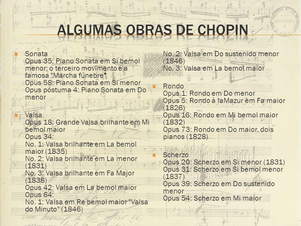 Sonata Opus 35: Piano Sonata em Si bemol menor; o terceiro movimento é a famosa