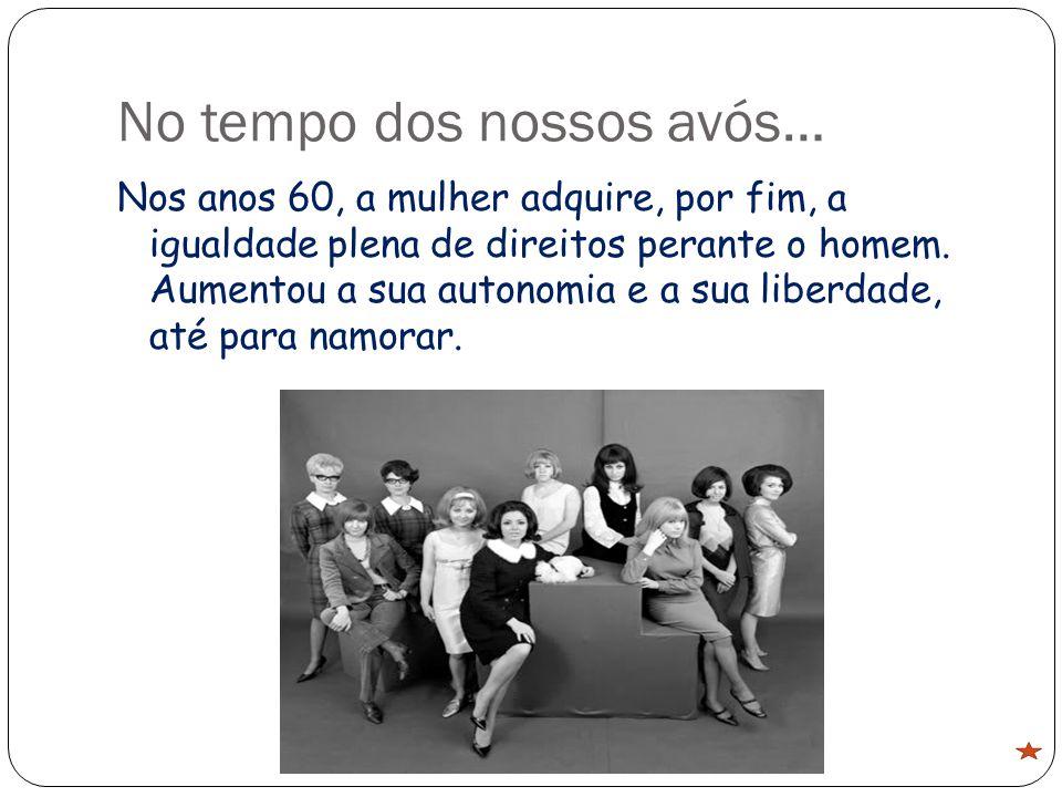 Nos anos 60, a mulher adquire, por fim, a igualdade plena de direitos perante o homem.