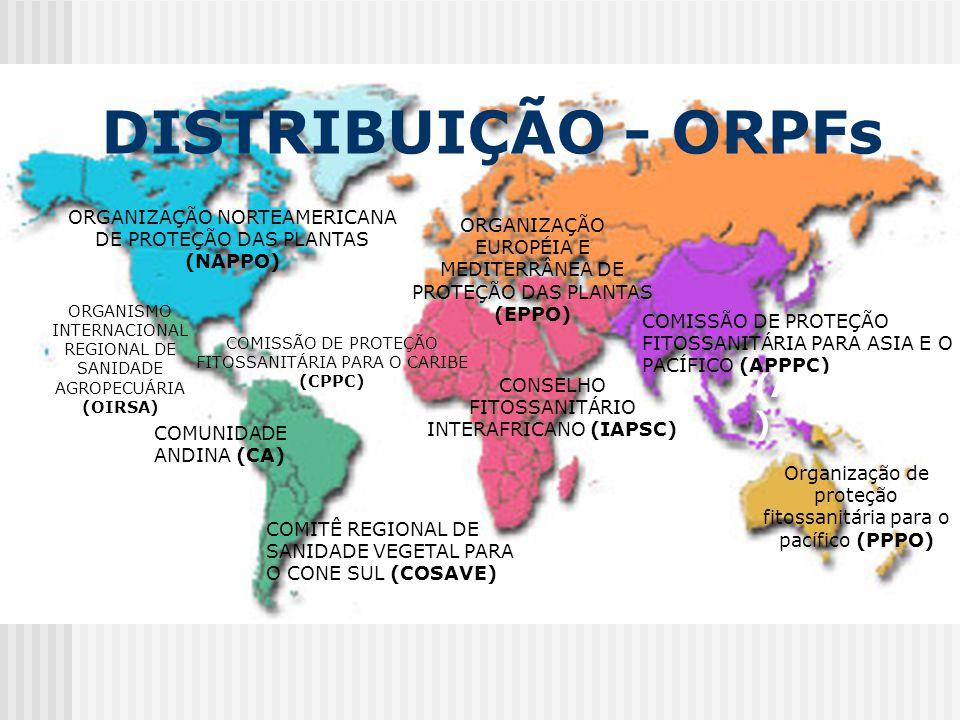 COMISSÃO DE PROTEÇÃO FITOSSANITÁRIA PARA ASIA E O PACÍFICO (APPPC) COMISSÃO DE PROTEÇÃO FITOSSANITÁRIA PARA O CARIBE (CPPC) COMITÊ REGIONAL DE SANIDAD