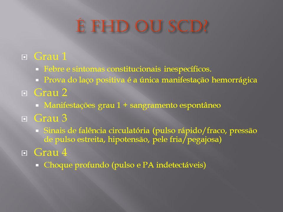 Grau 1 Febre e sintomas constitucionais inespecíficos.