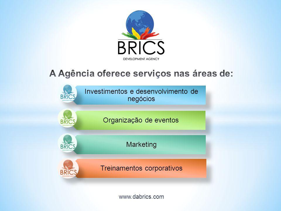 Investimentos e desenvolvimento de negócios Organização de eventos Marketing Treinamentos corporativos