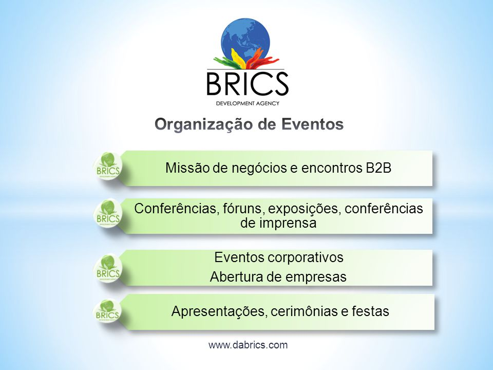 Missão de negócios e encontros B2B Conferências, fóruns, exposições, conferências de imprensa Eventos corporativos Abertura de empresas Apresentações,