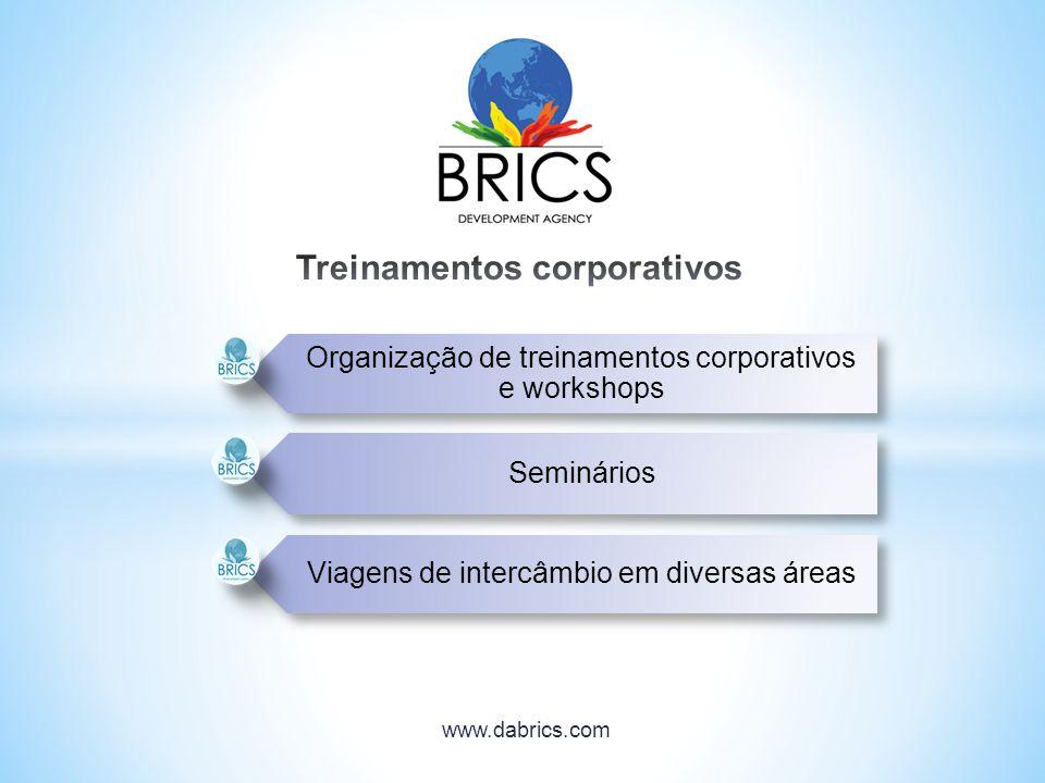 Organização de treinamentos corporativos e workshops Seminários Viagens de intercâmbio em diversas áreas www.dabrics.com