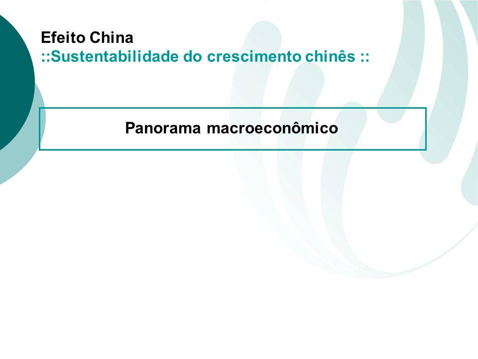 Efeito China Panorama macroeconômico ::Sustentabilidade do crescimento chinês ::