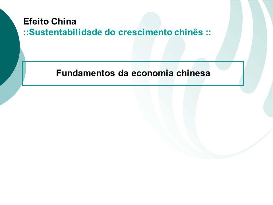 Efeito China ::Sustentabilidade do crescimento chinês :: Fundamentos da economia chinesa